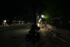 night riding through a city, a great way to avoid the traffic and still have a great feel of a smaller city