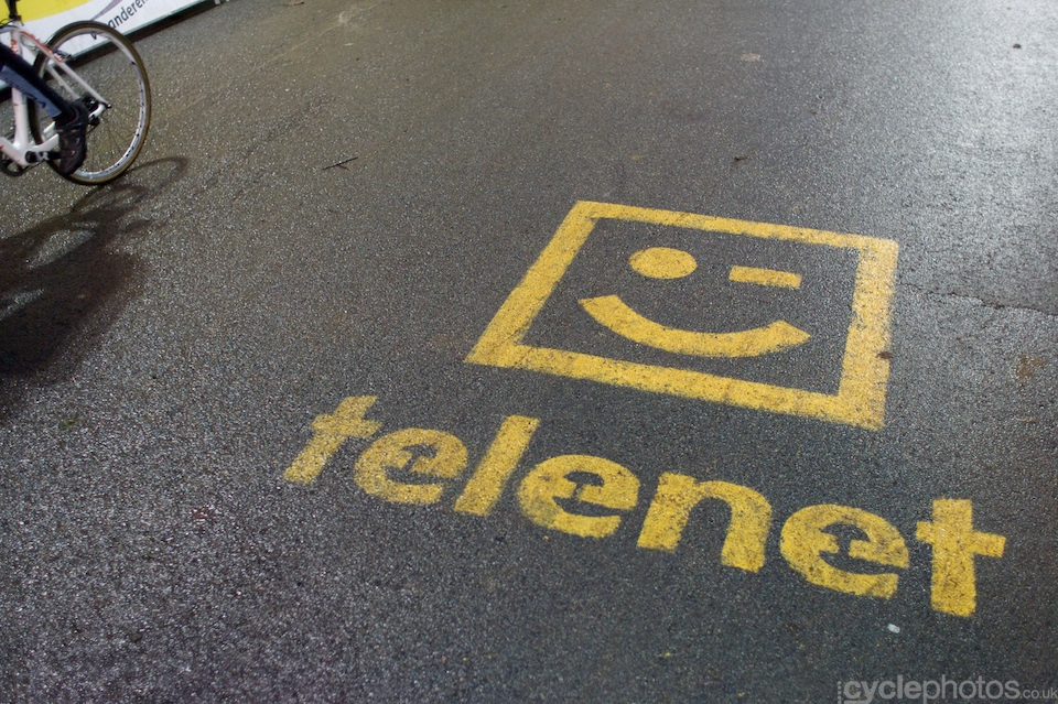 Telenet ad on the tarmac.