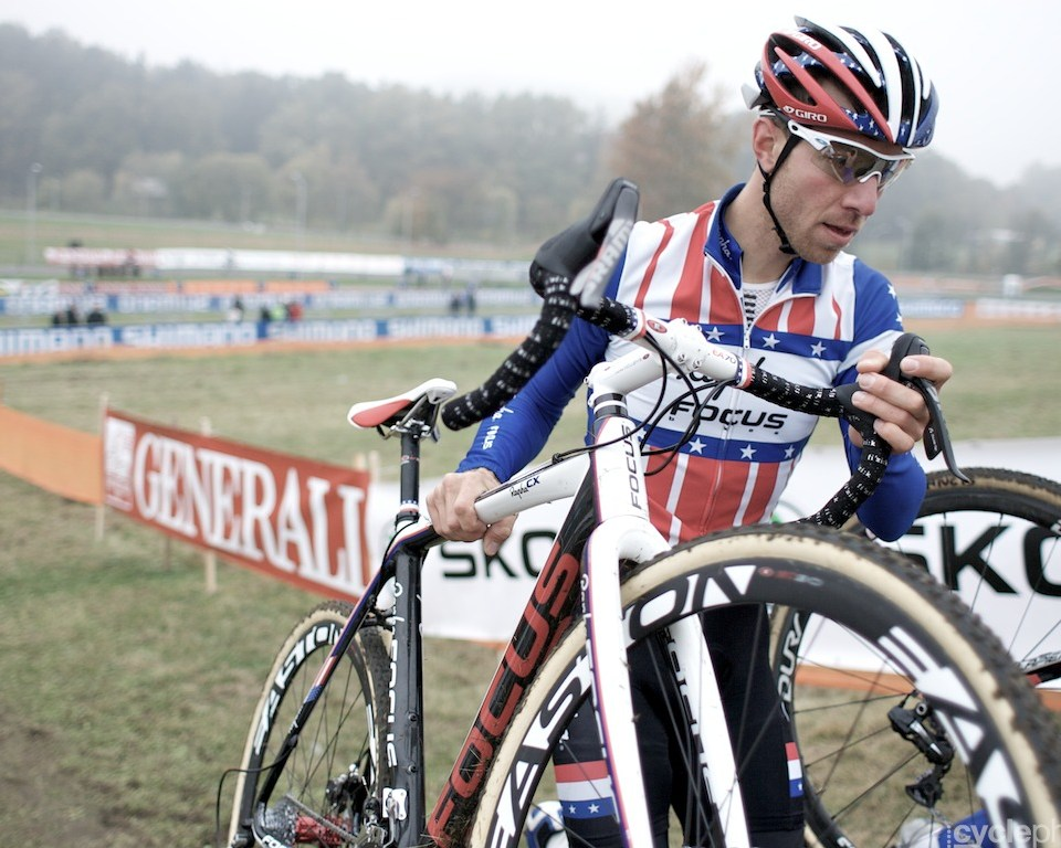 Jeremy Powers the day before the first round of the cyclocross World Cup in Tabor, Czech Republic.