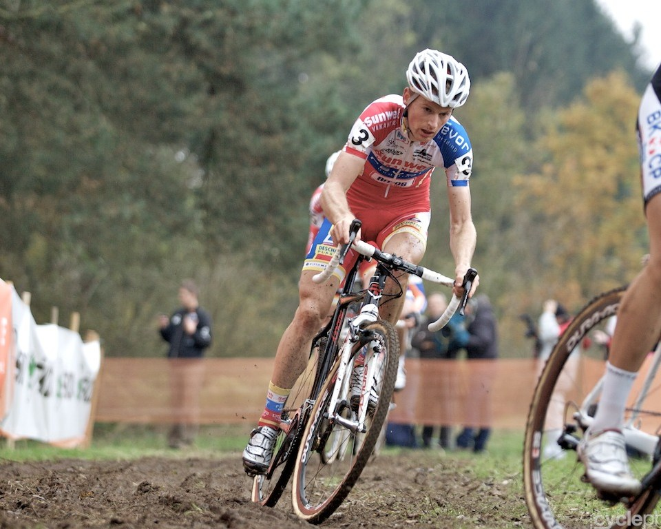Kevin Pauwels during the first round of the cyclocross men's World Cup in Tabor, Czech Republic.