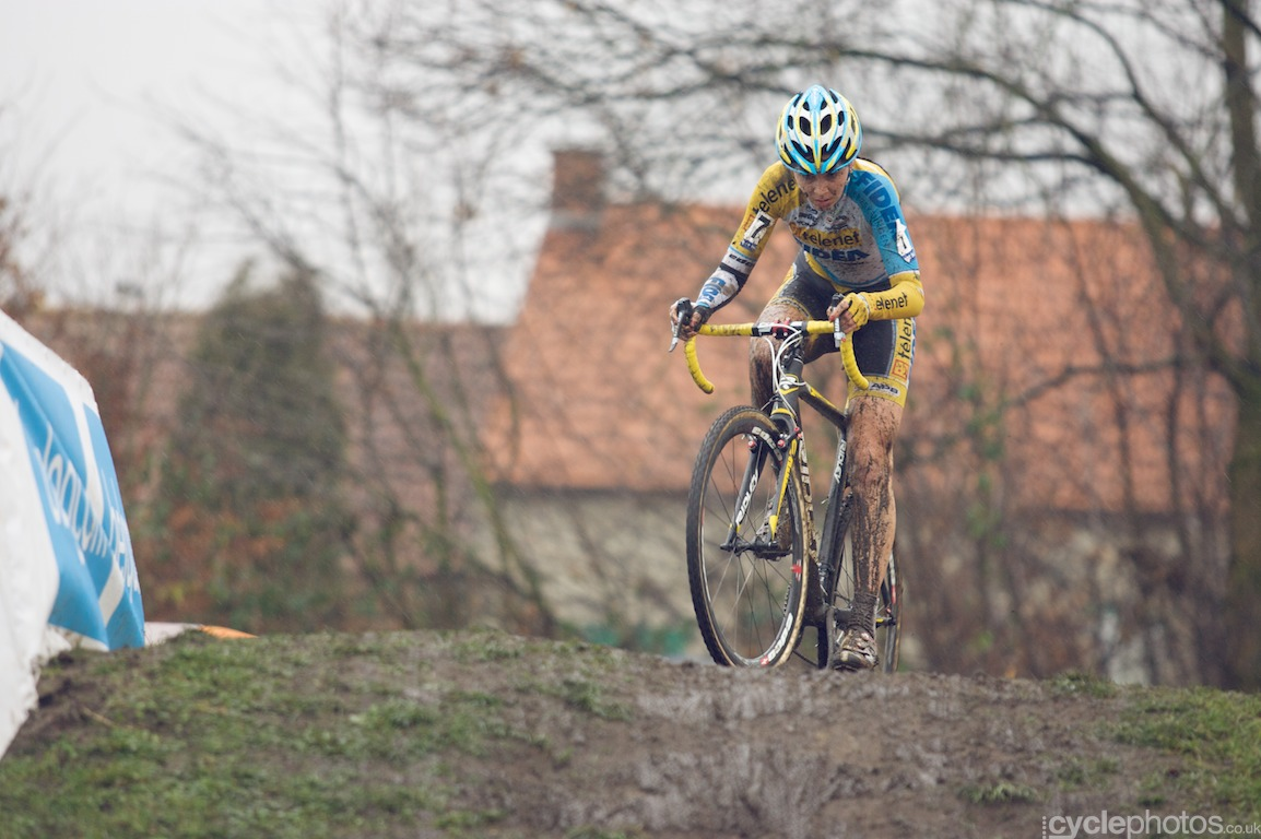 Nikki Harris in the final lap of the fifth round of the Bpost Bank Trofee Azencross in Loenhout.