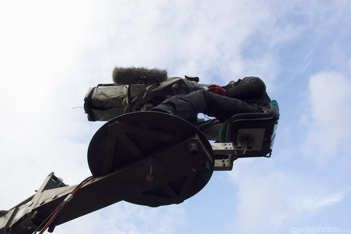 The finishing straight cameraman