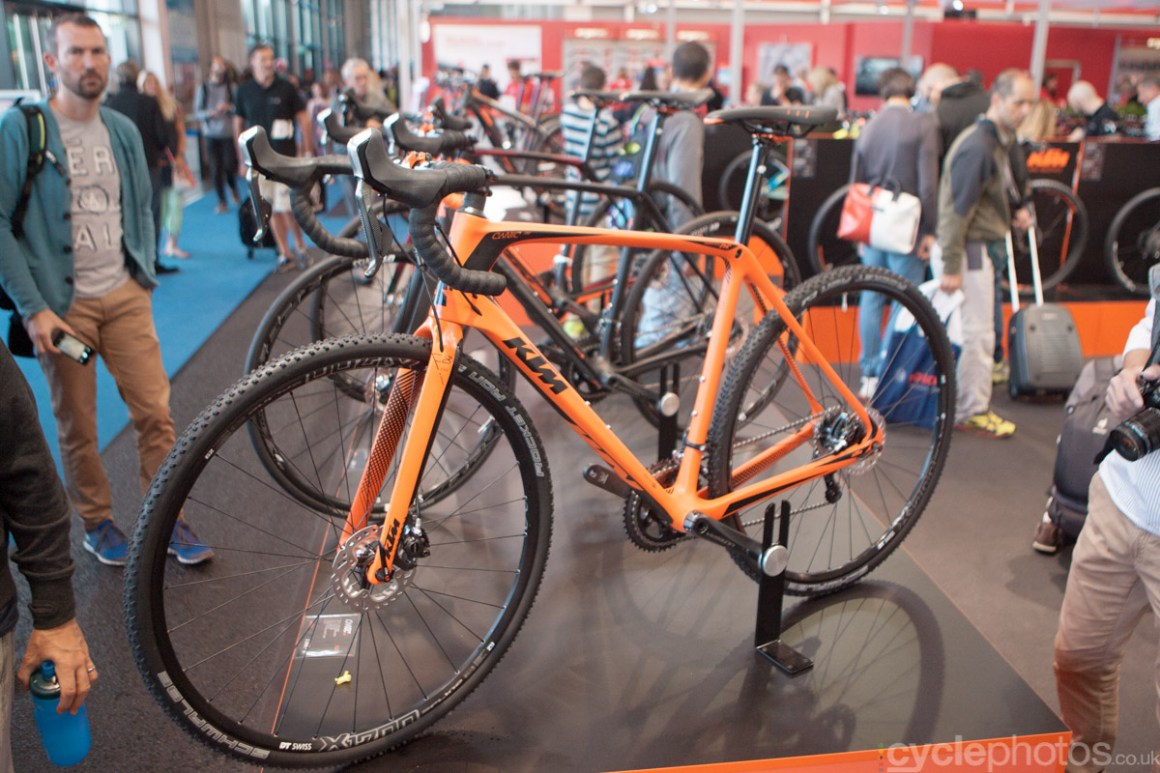 KTM cyclocross bike at the 2014 Eurobike Bike show in Friedrichshafen, Germany.