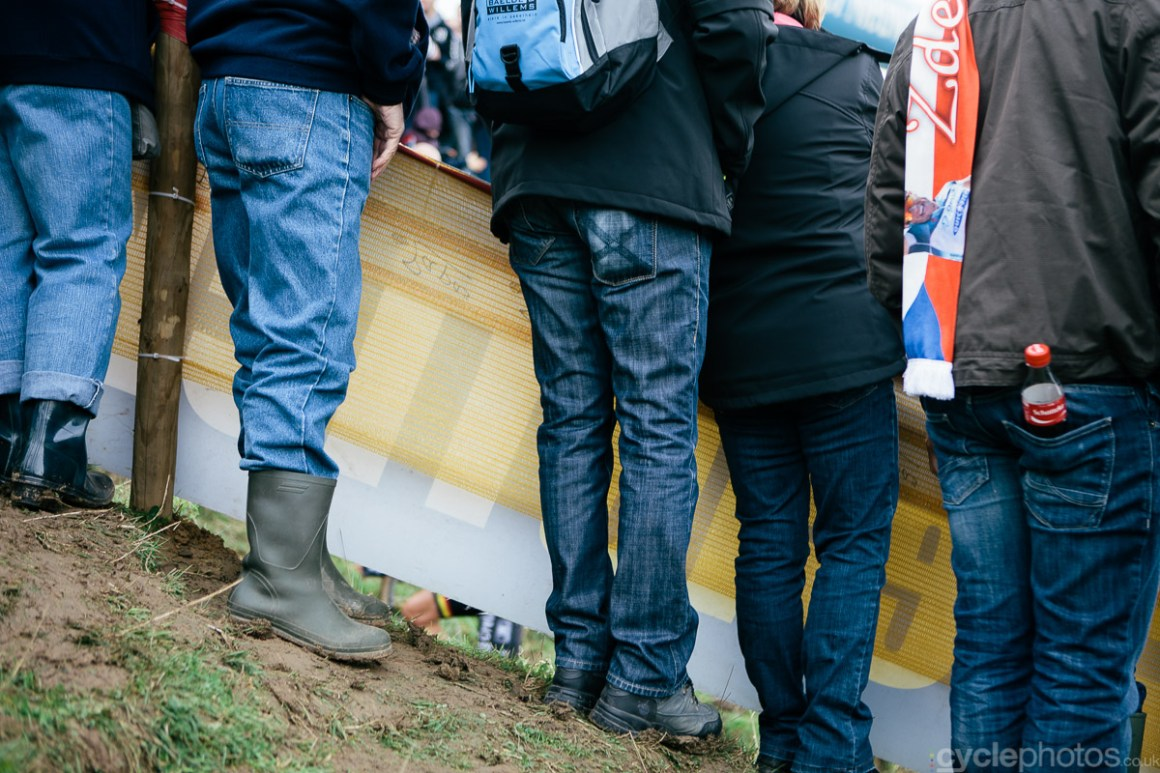 Spectators of the Bpost Bank Trofee cyclocross race in Ronse. Photo by Balint Hamvas / cyclephotos.co.uk