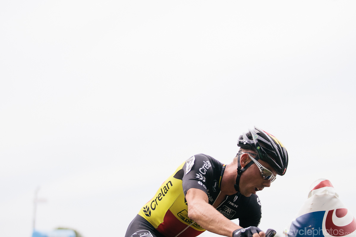 Sven Nys leads the Bpost Bank Trofee cyclocross race in Ronse. Photo by Balint Hamvas / cyclephotos.co.uk