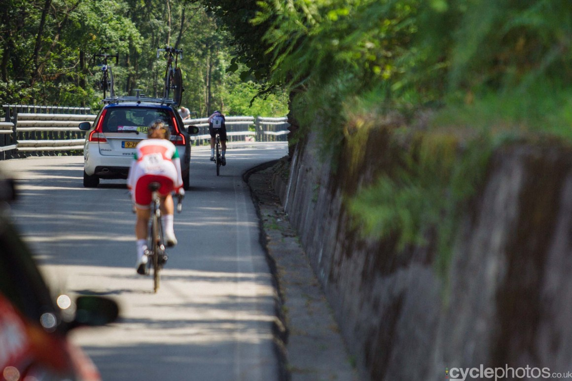 Anna van der Bergen during the 8th Stage of the 2015 Giro Rosa