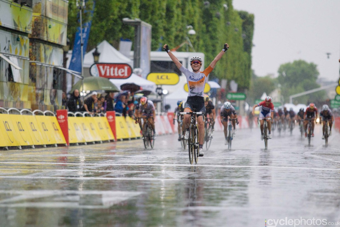 Anna van der Breggen wins the 2015 edition of the La Course by Le Tour women's road cycling race.