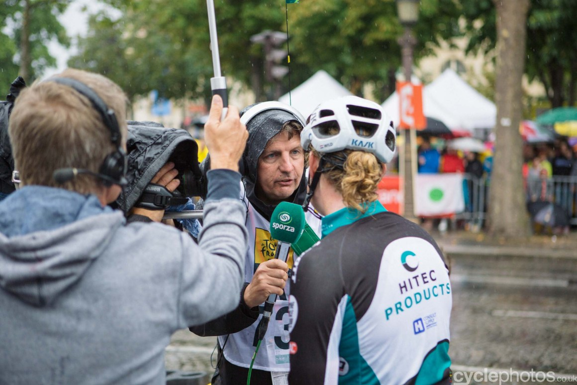 Renaat Schotte after the 2015 edition of the La Course by Le Tour women's road cycling race.