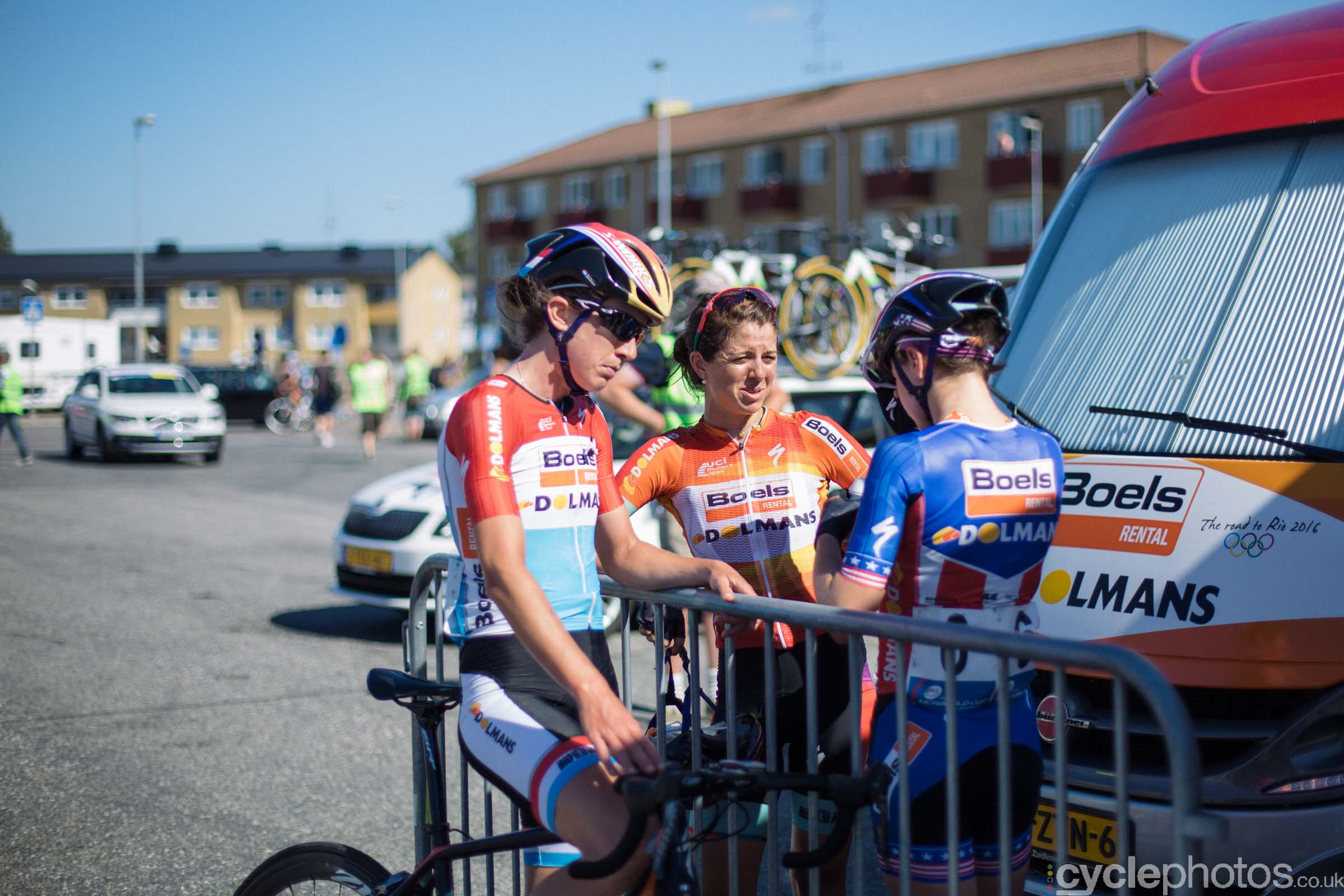 Boels-Dolmans riders after the 2015 edition of the Vargarda women's World Cup race