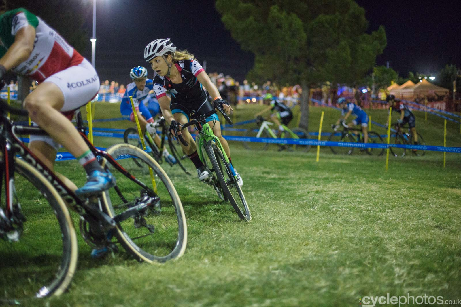 Sanne van Paassen during Crossvegas, the first round of the 2015 UCI Cyclocross World race in Las Vegas, USA.