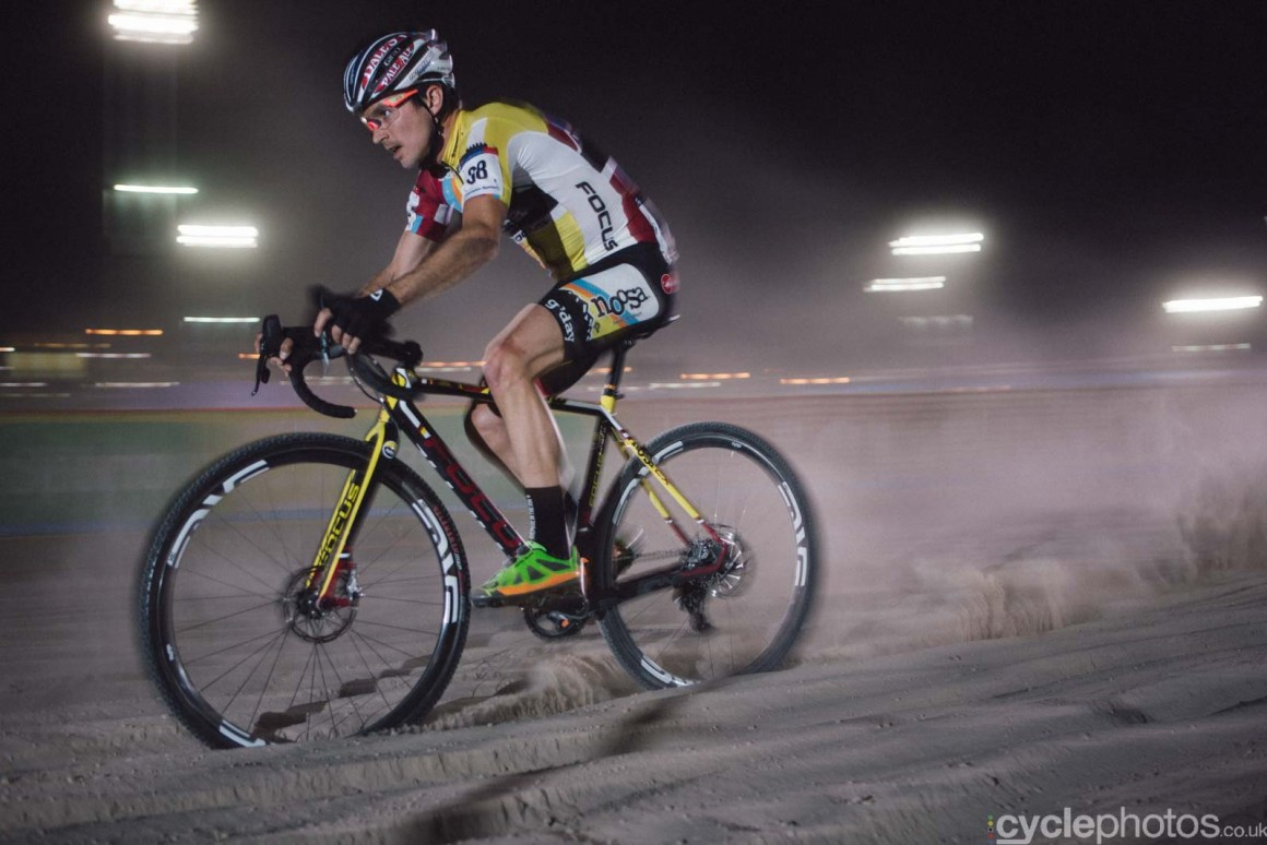Allen Krughoff during Crossvegas, the first round of the 2015 UCI Cyclocross World race in Las Vegas, USA.