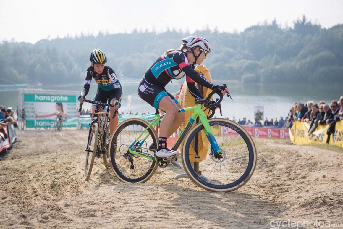 Sanne van Paasen rides during of the women's Superprestige race in Gieten, The Netherlands. All rights reserved. �Balint Hamvas / Cyclephotos