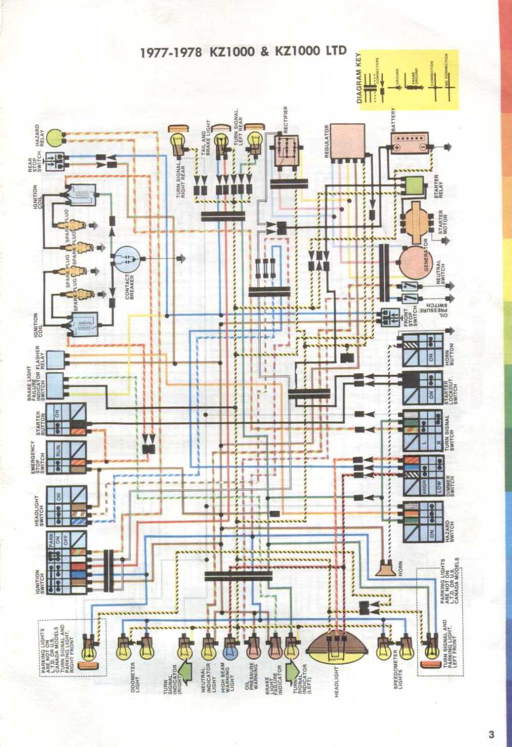 medium resolution of wiring diagram for 1977 1978 kawasaki kz1000 and kz1000ltd evan rh cycles evanfell com kawasaki electrical