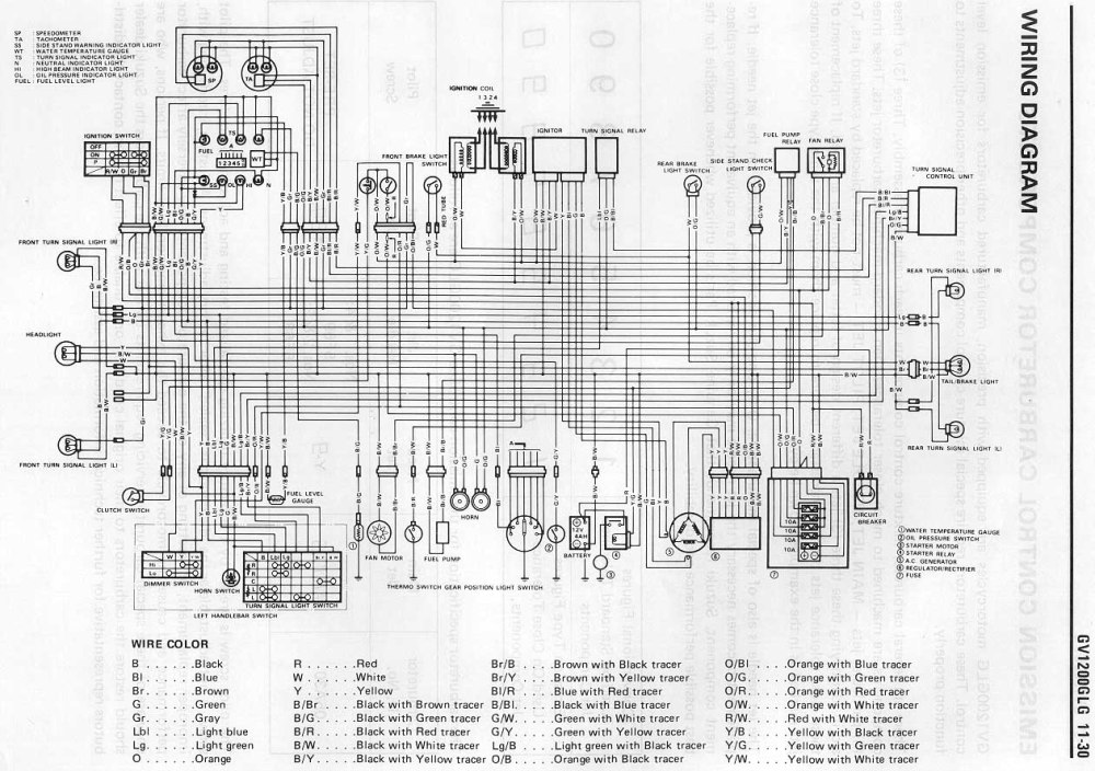 medium resolution of suzuki madura gv1200glg wiring diagram
