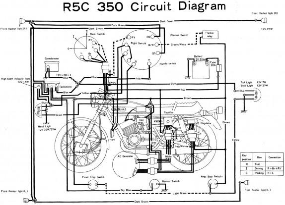Yamaha RD350 R5C Wiring Diagram
