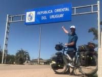 Un an plus tard, 21/09/2019, il est en Uruguay et a parcouru 7192 kilomètres