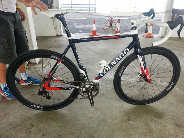 Colnago C59 Disc with proprietary disc brakes - its a bit special...