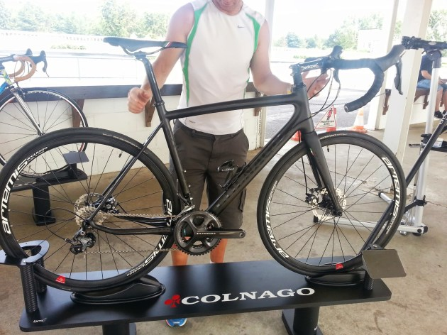 Vince couldn't take his hands off the Colnago CX Zero