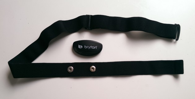 The Bryton Rider 40 HRM strap is washable