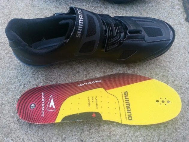 Shimano XC90's heat mouldable insole