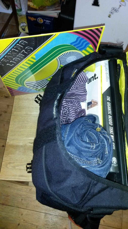 S-bag fully laden with Ed's 'backpack list'