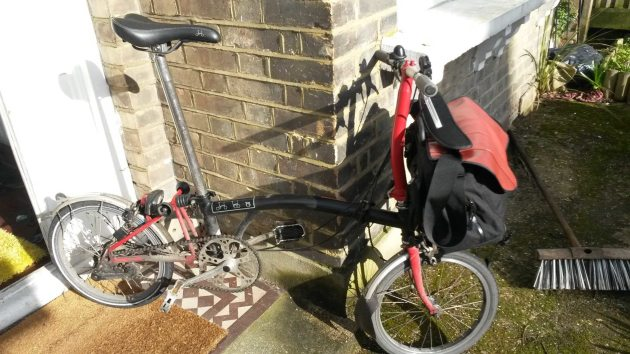 Brompton and S-bag - perfect commuting combo?