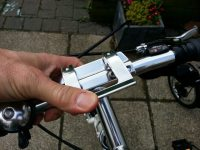 As with all the parts on any folding bike, make sure it's properly engaged.