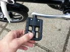 They are plastic, standard commuter pedals