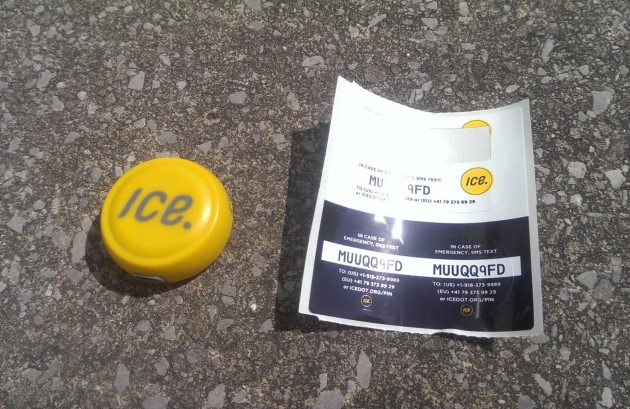 ICEdot sensor and accompanying stickers