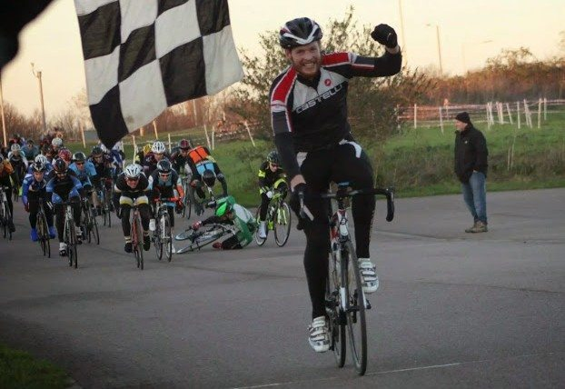 Whilst the winner comes home, I'm somersault testing of the Giro Air Attack at the Hillingdon Winter Series