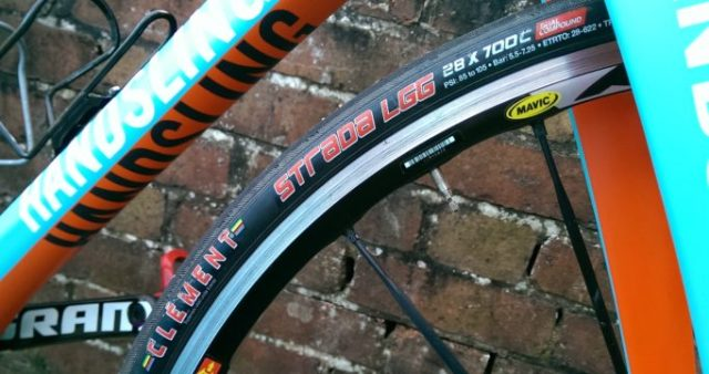 The 28mm Clements fitted fine on my cross bike, but check your clearances on a road bike