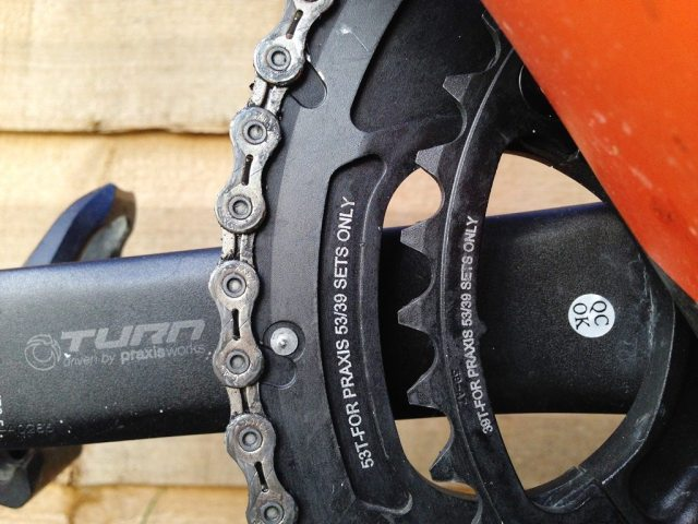 Praxis Works 53/39 chainrings with LevaTime shifting technology