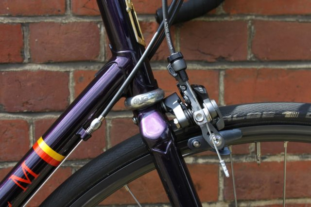 "Yes, that's a 1"" headset on a hand-built steel fork"