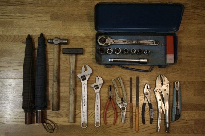 Does your tool kit look like this? Maybe its time to look for something a little more specialised? Photo courtesy of Erich Stüssi