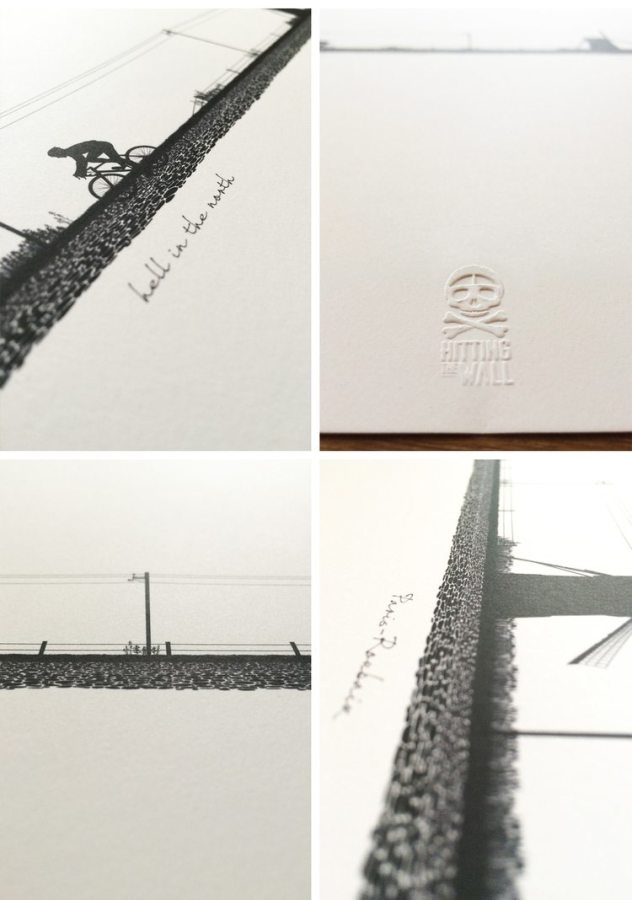 """Details from the Hitting the Wall print """"Hell of the North"""""""