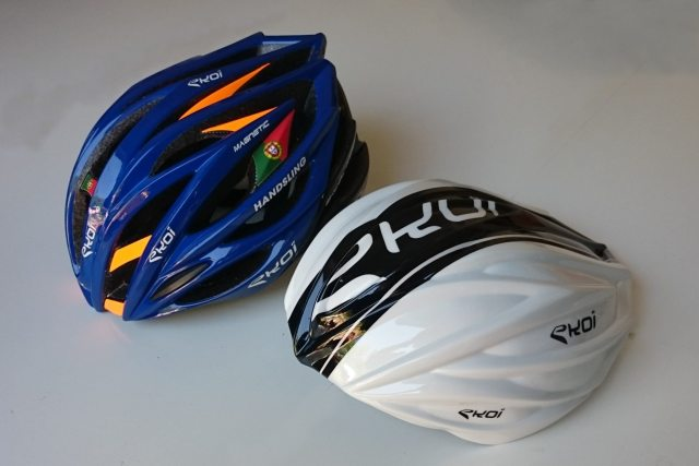 The Ekoi Ekcel Magnetic helmet and aero cover