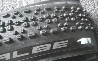 The Schwalbe X-One doesnt look like a super aggresive mud tyre, but it acts like one