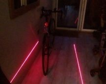 The OxyLED with just the lasers on, visibilty will be affected by how much ambient light there is