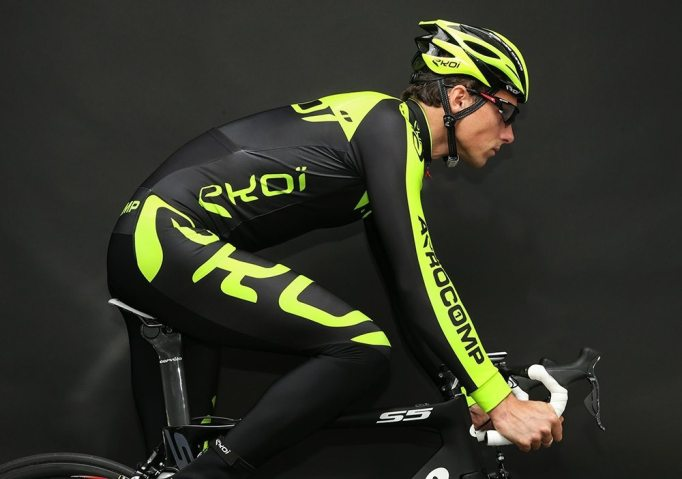 The Ekoi Aerocomp Thermal Suit, perfectly normal clothing on the bike, maybe not suitable for the pub?