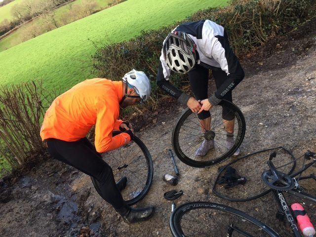 Winter roads mean you'll be praying at the altar of the puncture gods. Image courtesy of Simon Catmur