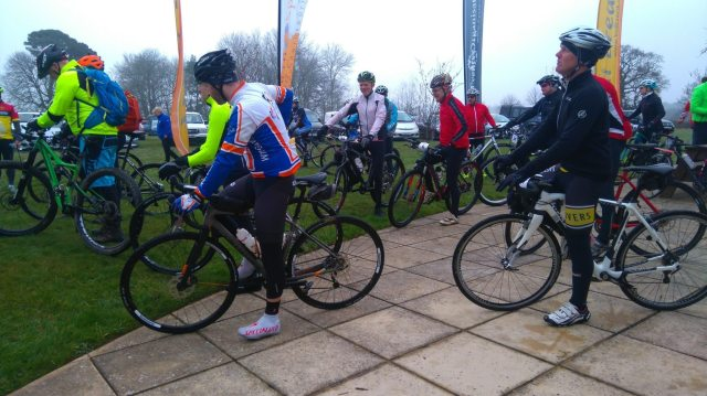 Ready for the off, riders get ready to tackle the Wiggle South Downs Sting