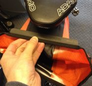 Rolling the Ortlieb Medium Saddle Bag closed