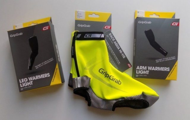 The AquaRepel shoe covers are part of GripGrab's Hi-Vis range