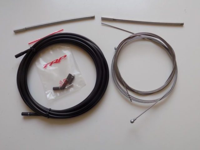 I also ran TRP's DiscConnect Cable and Housing Kit. Compressionless cable housing improves braking
