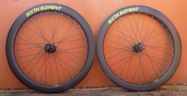 The Sixth Element Cross Wheelset, handbuilt in the UK, with customisation options