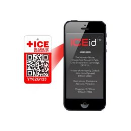 The ICEid tag can be accessed by a mobile app