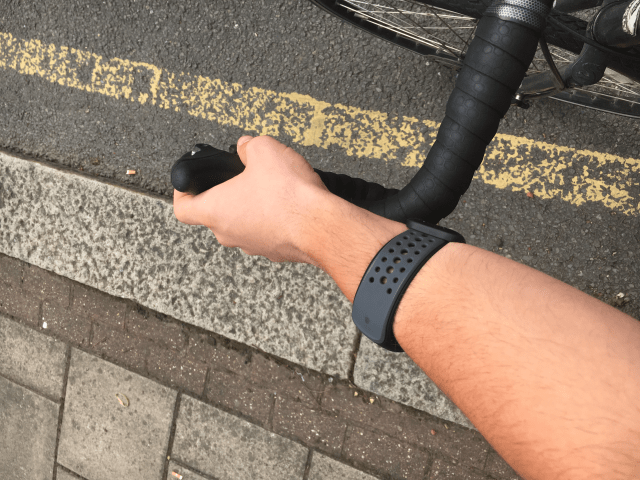 It took a while for our reviewer to find the optimal position for the Mio Link