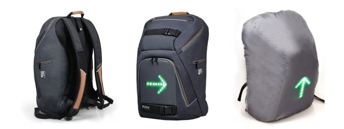 The GoLED Commuter Back pack is a smart looking bag with LEDs to let other road users know where you're going