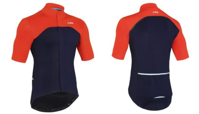 The Aeron Rain Defence Short Sleeve Jersey from dhb, paired with their Rain Defence warmers and shorts, will keep you riding, no matter the weather