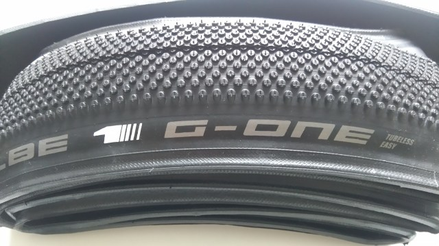 The Schwalbe G One gravel tyre, big and bouncy for those long days in the dirt?